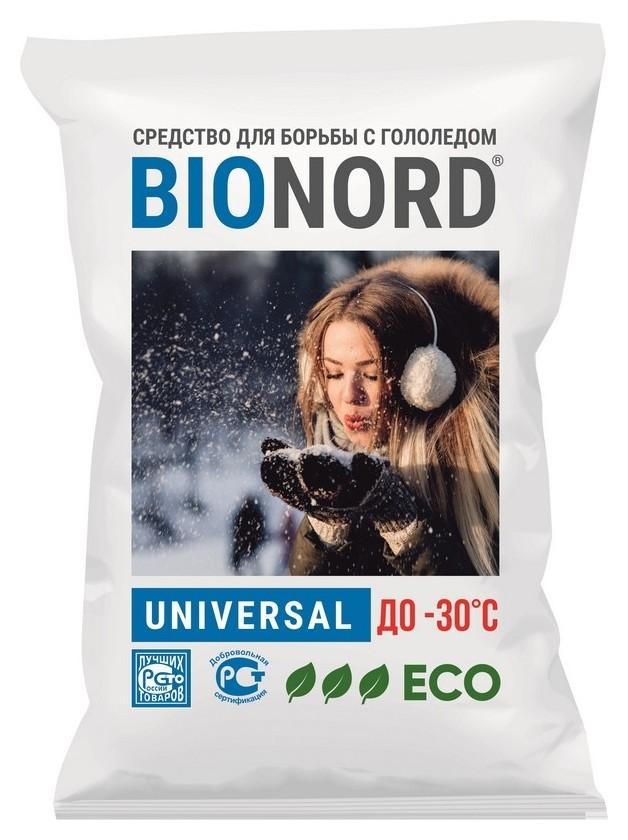 Реагент противогололедный Bionord Universal до -30с 23кг  Bionord