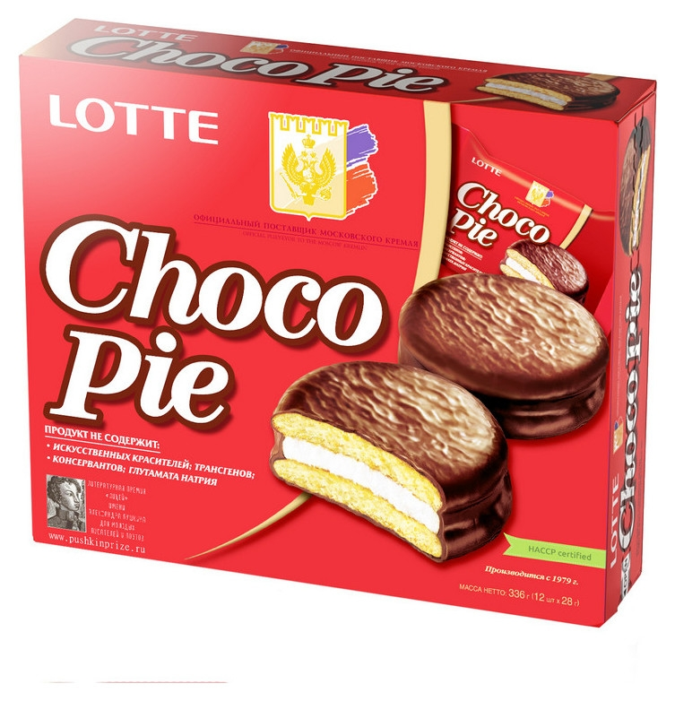 Пирожное Lotte Chocopie, 336г  Lotte