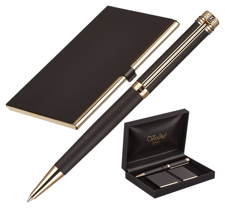 Набор пишущих принадл. Verdie Ve-6bg ручка+визитница,футляр тайвань  Verdie