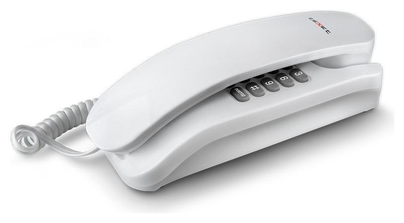 Телефон проводной Texet Tx-215 белый  teXet
