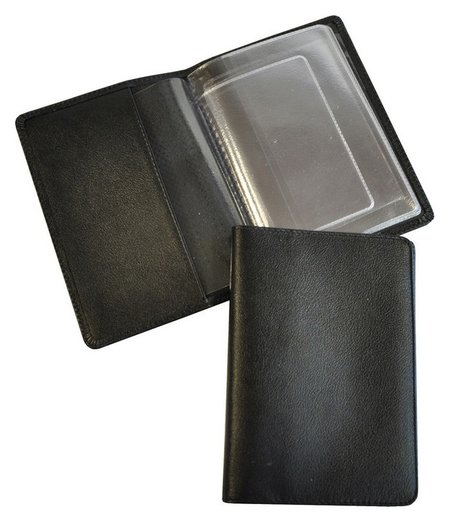 Обложка для автодокументов кожаная черная, 02-024-0713  Grand