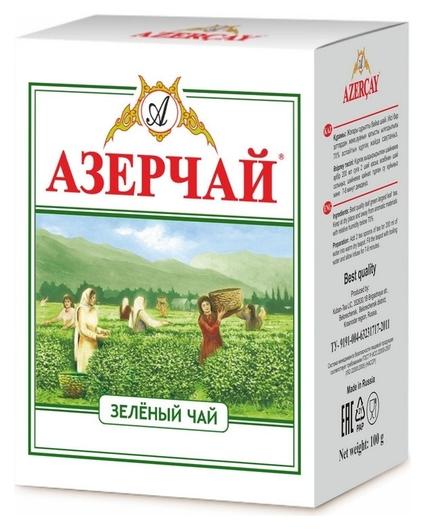 Чай азерчай чай зеленый листовой, 100 г 266720  Азерчай
