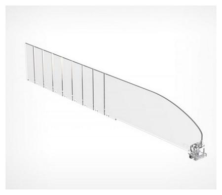 Полочный разделитель пластиковый высота 60 мм., 40 шт./уп.  NNB