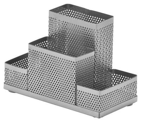 Подставка Attache 4х секц. для канц.прин.башня ,мет.сет,160х110х80мм(Сереб)  Attache