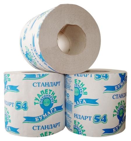 Бумага туалетная 1-сл.островская сер 38м,24рул./уп.  Островская