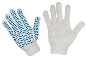 Перчатки защитные трикотажные с ПВХ волна 4 нити 42г 10класс 10пар/уп  NNB