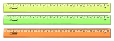 Линейка 30см прозр.  Neon Cristal лн-32  Стамм