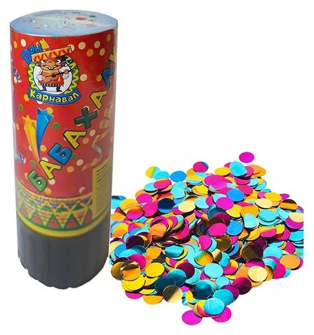 Пневмохлопушка круглое конфетти фольгированное 11,5 см арт.х-8072  Miland