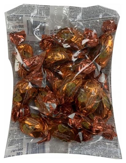 Конфеты в шоколадной глазури курага петровна с миндалем, 500г 674  Озерский сувенир