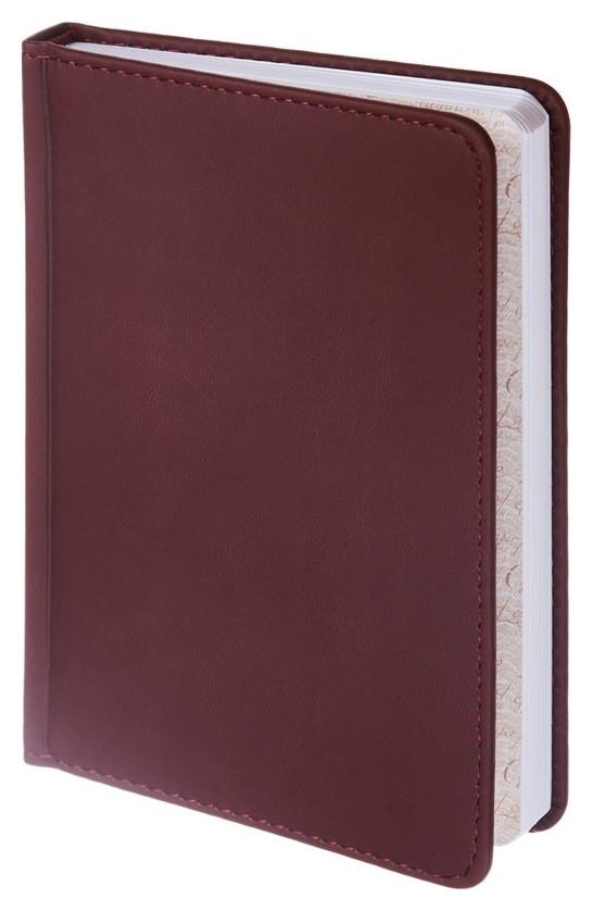 Ежедневник недатированный A6+, 136л, Velvet бордовый 3-495/02  Альт
