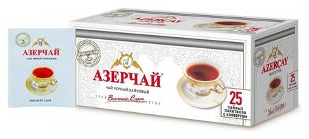Чай азерчай премиум чай черный в пакетиках сашетах, 25 шт 166573 Азерчай
