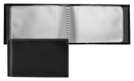 Визитница Fabula Classic V.30.sh из натуральной кожи черного цвета Fabula