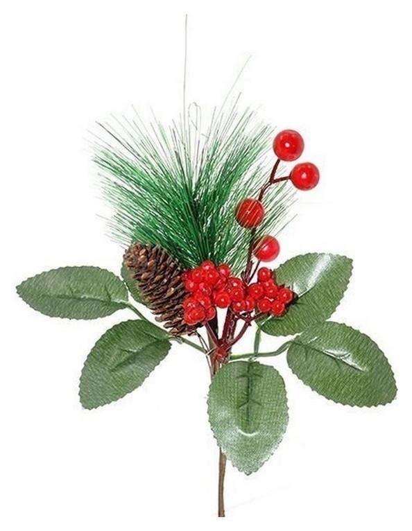 Украшение новогоднее ветка, H23 см,4в. (Без инд.упаковки) 263629  NNB