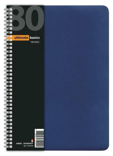 Бизнес-тетрадь тетрадь 80л. клетка А4 спираль пластик.обл. Office Lineальт  Альт