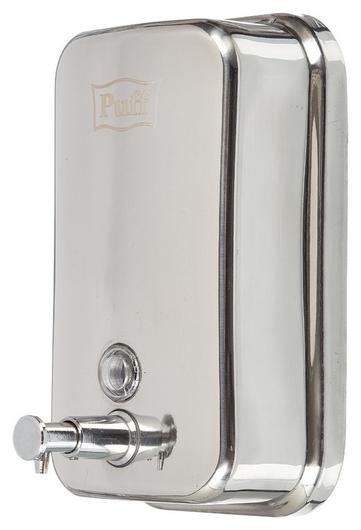 Дозатор для жидкого мыла 1л, стальной корпус  Puff