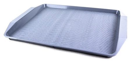 Поднос компакт серый 427х302х28мм (7601041)  Uniplast