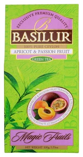 Чай зеленый волшебные фрукты абрикос и маракуйя 100гx24 картон 71312-00  Basilur