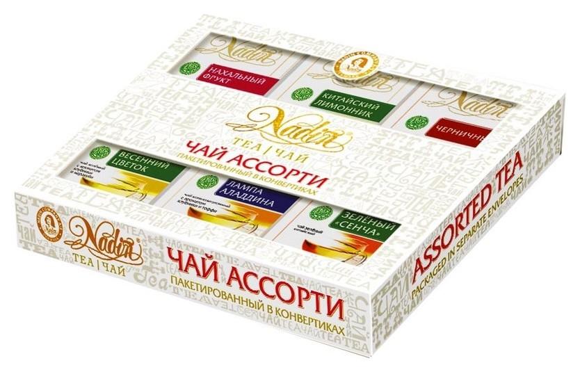 Подарочный набор чайное из 6 видов ОП чая по 6 пакетиков 333333  Nadin