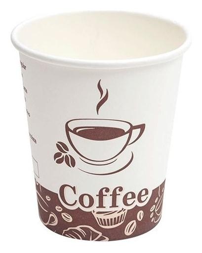 Стакан одноразовый бум 1-сл. D-80мм 200/250мл турецкий кофе 8OZ 50шт/уп  Комус