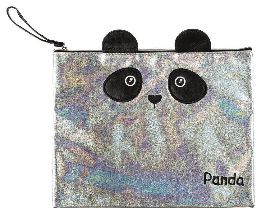 Папка для тетрадей №1 School Panda А4 +, экокожа, вышивка  №1 School