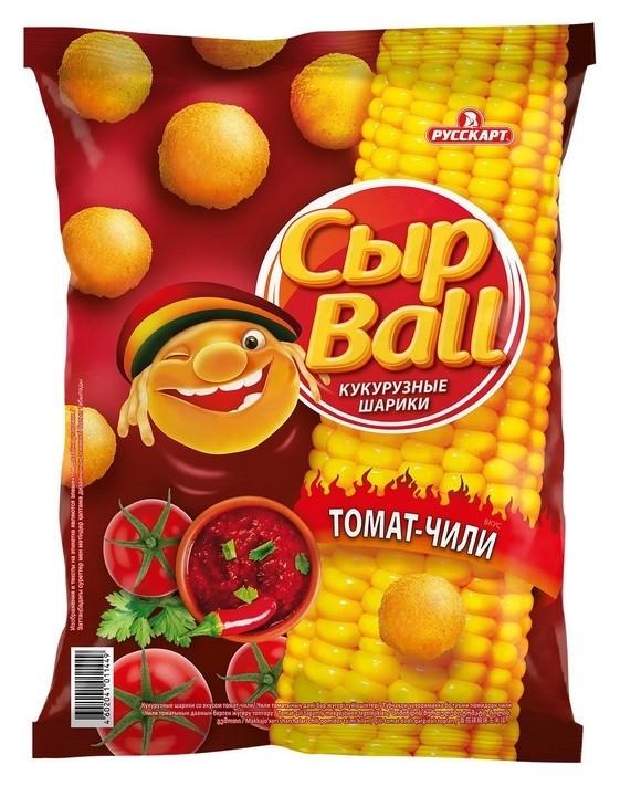 Кукурузные шарики сырball со вкусом томат-чили 140г СырBall
