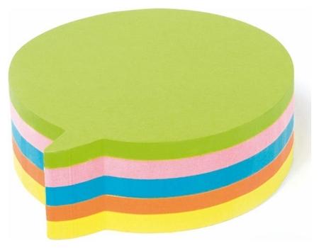 Блок-кубик Kores блок фигур. диалог 5 цветов 250л. ?48707  Kores