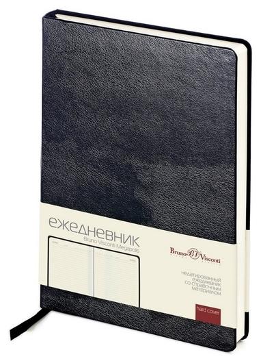 Ежедневник недатированный черный,а5,145х215мм,160л,br.v.megapolis  Bruno Visconti