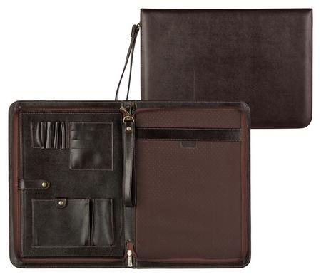 Папка деловая Grand из натуральной кожи коричневого цвета 01-118-0723  Grand