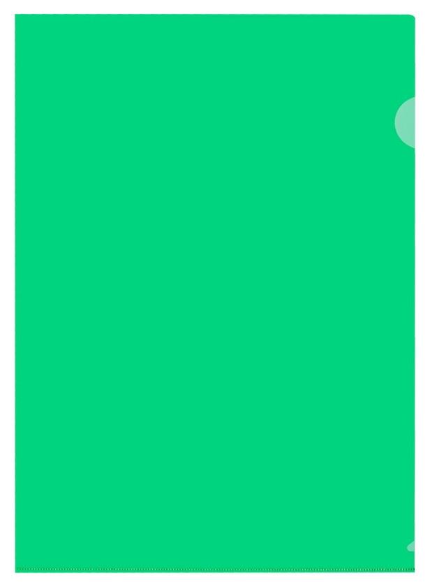 Папка уголок, 150 мкм, зеленый 10 шт/уп россия  Attache