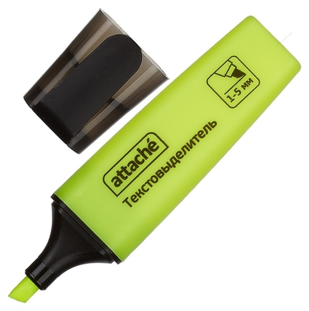 Маркер выделитель текста Attache Colored 1-5мм желтый  Attache