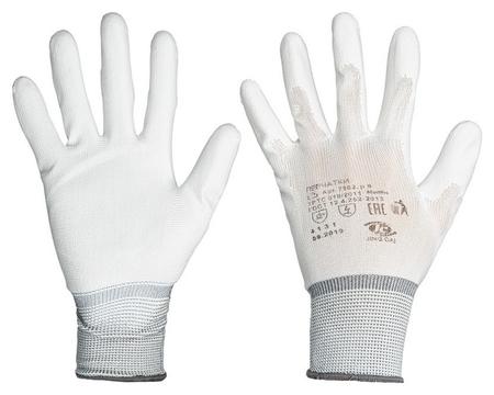 Перчатки защитные нейлоновые с полиуретановым покрытием размер 9  NNB