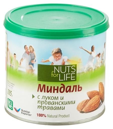 Миндаль Nuts For Life обжаренный с прованскими травами, 115г  Nuts for Life