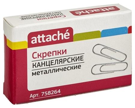 Скрепки Attache 28 мм, металлические б/покрытия, овальные 100шт./уп.к/кор  Attache