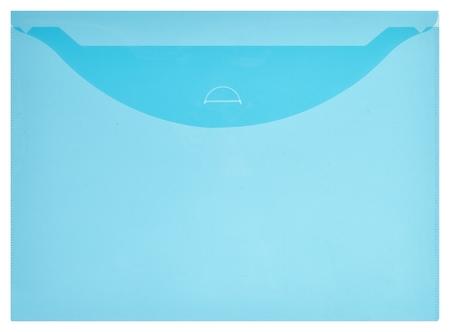 Папка-конверт на кнопке (Клапан) 180 синий прозрачный 10 шт/уп  Attache