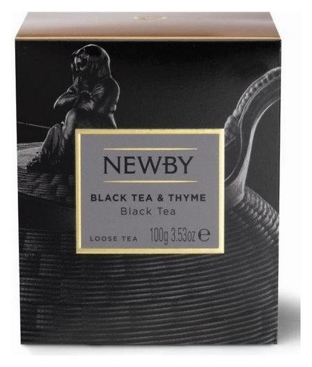 Чай черный Newby чабрец, 100г  Newby
