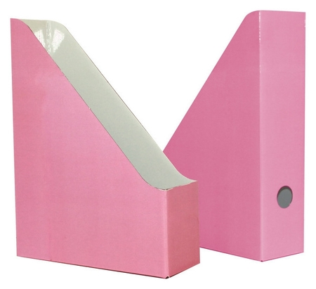 Вертикальный накопитель Attache Selection Flamingo 75мм 2шт/уп Pink розовый  Attache