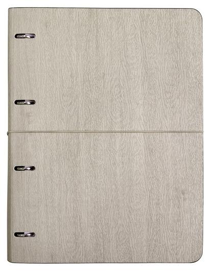 Бизнес-тетрадь Infolio Study Wood а4,120л,240х310,клет,на кольц N1700 серый  InFolio
