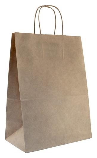 Пакет бумажный крафт бурый с крученой ручкой 260х150х350 мм.200 шт/уп  NNB