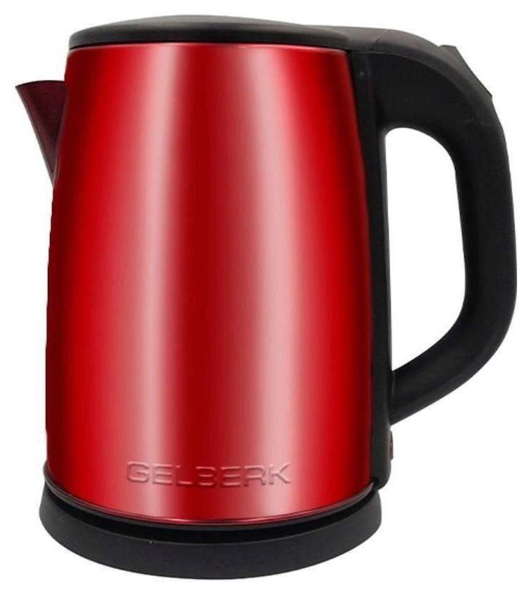 Чайник электрический Gelberk Gl-321 крас, 2 литра, 1500 Вт нерж. мат. крас  Gelberk