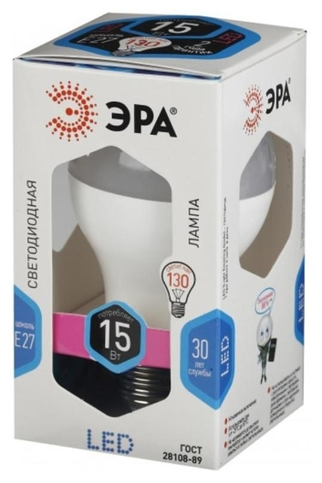 Лампа светодиодная ЭРА LED A60-15w-840-e27 15вт Е27 4000к б0033183  Эра