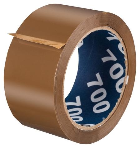 Клейкая лента упаковочная Unibob 700 50мм х 66м 47мкм коричневая  Unibob