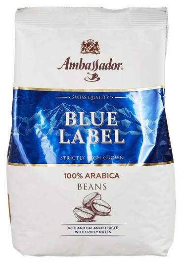 Кофе Ambassador Blue Label в зернах, 1кг  Ambassador