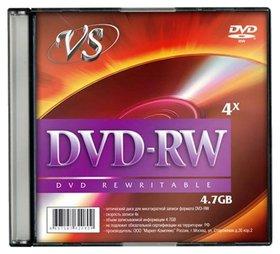 Носитель информации DVD-RW, 4x, 4,7 GB  Vs