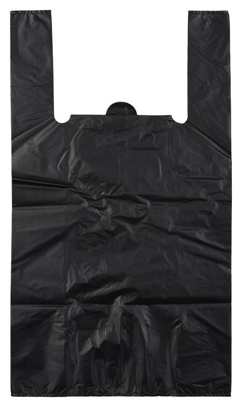 Пакет-майка усиленный,пнд, 40+18x70см,черный,45мкм,50 шт/уп  Знак качества