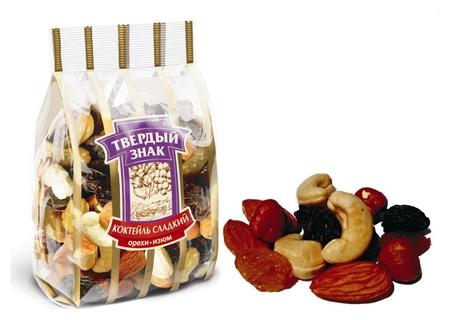 Коктейль сладкий орехи-изюм 250 гр. . твердый з  Твердый знак