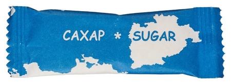 Сахар фасованный материк 10 гр.(100 шт/уп.)  Новупак