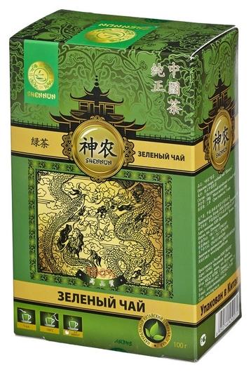 Чай Shennun зеленый, прямой, 100 г. 13064  Shennun