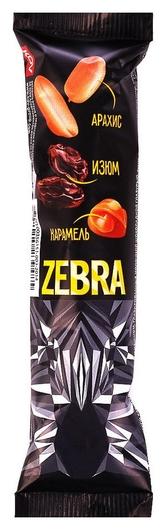 Шоколадный батончик зебра с молочным шоколадом 40г  Zebra