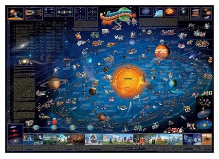 Настенная карта детская карта солнечной системы 1,37х0,97 978-1-905502-69-1  АГТ Геоцентр
