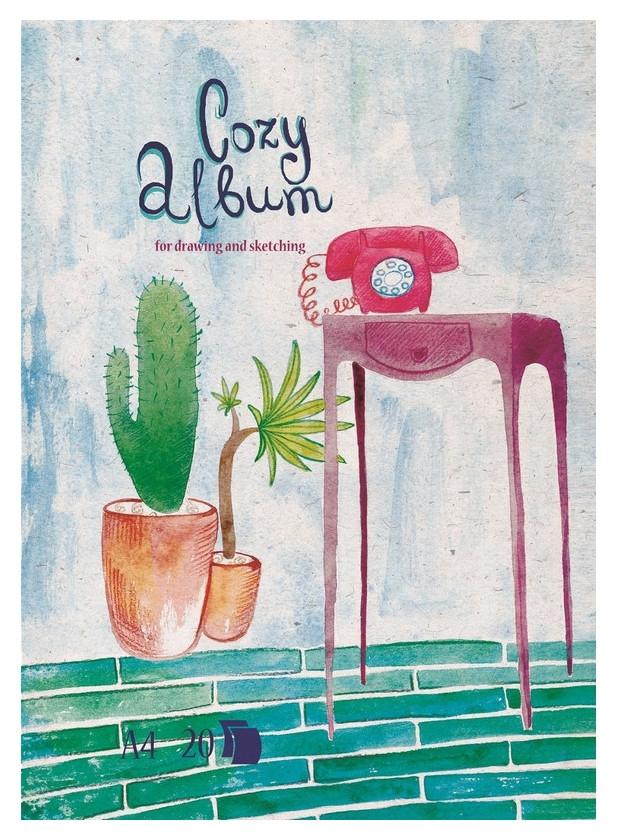 Альбом для рисования №1 School Cozy Album А4 20л,склейка,обл.импорт.картон  №1 School